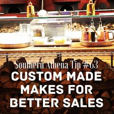 Custom made makes for better sales. #southernathenatips #cre #restaurant #businessdevelopment #strategy We can help customize your space so you can sell more. Contact us for our retail guide