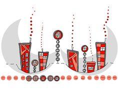 Monday Gift Ideas by Sarmite on Etsy Landscape Illustration, Illustration Art, Handmade Design, Handmade Items, Art Diy, Future Trends, Sea Foam, Abstract Landscape, Art World