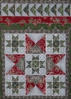 "Beautiful,  love all the colors, love all the different scrolls look.  Its Beautiful  by TD.    incredible quilting designs by ""The Quilt Whisperer"" Carla Barrett"