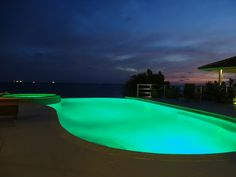 Pool at night Curacao
