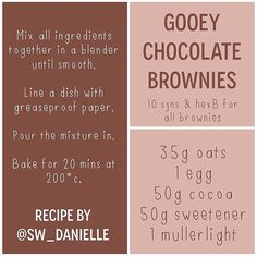 Reposting my gooey chocolate brownies recipe after @sw_beth posted about them earlier!  #chocolate #treat #hexB #sweet #brownies #slimmingworld #slimmingworlduk #sw #swuk #swfood #swlove #swideas #swmafia #swinsta #swfriends #swfamily #onplan #weightloss #losingweight #healthy #healthyliving #swjourney #swrecipes #swlife