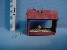 Alice-Zinn-Bird-Feeder-with-Bird-on-a-Chain-Handcrafted- Dollhouse-Miniature 40USD