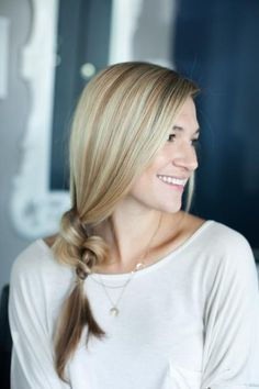 Pinterest's Best Summer Hairstyles | Divine Caroline Knotted Side Ponytail