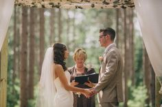 birch arch tree grove outdoor wedding wisconsin romantic venue unique vintage lace mason jars flowers navy farm woods woodsy pines rustic ceremony wooden sign diy ceremony reception from this day forward arbor Burlap and Bells | Gallery  www.burlapandbells.com