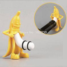 Mr.Banana Creative Soda Wine Bottle Novelty Stopper Corkscrews Bar Tool Wine Beer Bottle Cork Stopper Bar Novely Gift S201760