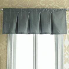 curtains inverted box pleated | Inverted box pleat/button valance | curtains