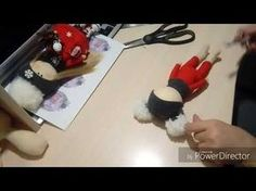 Клеим волосы,шапочка и снуд куколке. - YouTube