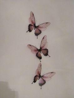 3 Luxury Amazing in Flight Butterflies 3D Butterfly Wall Art. $11.50, via Etsy.