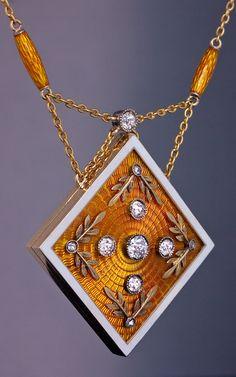 antique locket necklace