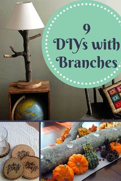 There are plenty of nearly free DIY projects you can make with firewood or the branches of a storm damaged tree. Some very clever and unique ideas here.