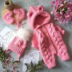 ВЯЗАНИЕ для ДЕТЕЙ и ВЗРОСЛЫХ (@tonica.knit) | Instagram photos and videos Knit Baby Dress, Knitted Baby Clothes, Crochet Doll Clothes, Crochet Baby Cocoon, Newborn Crochet, Crochet Doll Pattern, Crochet Yarn, Baby Bunny Costume, Winter Baby Clothes