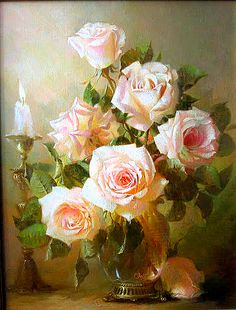 (68) Одноклассники Painting Art Lesson, Rose Painting, Floral Painting, Pastel Art, Oil Painting Flowers, Rose Art, Floral Art, Watercolor Flowers, Rose Flower Wallpaper