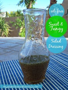 A delicious oil-free salad dressing that is low fat, gluten-free, vegan, and allergy-friendly.