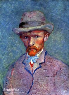 Self Portrait With Gray Hat by Vincent Van Gogh - Oil Painting Reproduction - BrushWiz.com