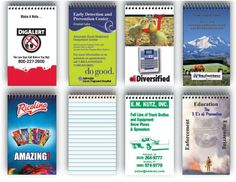 Pad à ressorts 3 x 5 pouce imprimé en couleurs recto-verso. 50 feuilles sur papier 10 pts. votre prix= 1,49 $ +  $ 30 frais de montage= minimum: 500 Appeler votre représentant au 514-341-6272