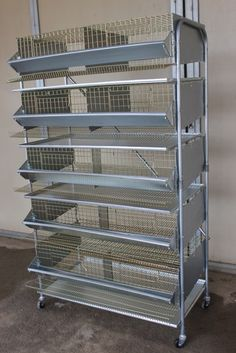"Laying Quail Breeder Cage; you can keep a breeding or Community setup for your birds,Quail cage dimensions are: L:32""xW:24""x71H:"" Cage is packed fully assembled.(Includes. 5 cages, 5 Feeder 10 Auto drinker, Stand ,5 Tray ,Hose ,Couplings and Screws)Wiring is high grade Galvanized Steel, very long life and easy cleaning floor wiring is 1/2"" by 2"" heavy duty wire more than 2 MM thick. To prevent injuries on the birds foot.Rectangular structure very versatile carriers are fully galvanized ..."