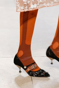 2e62704a1d59c Miu Miu Spring 2018 Ready-to-Wear Accessories Photos - Vogue Socks And Heels