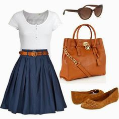 This is just simple and cute for going to a mall or hanging with friends