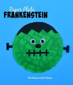 Frankenstein Kid Craft great for Halloween crafts