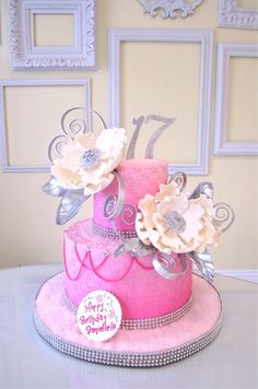Pretty 17th Birthday Cake