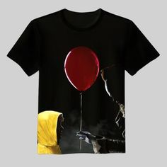 2017 New movie IT Pennywise T Shirt Clown Stephen King 1990 Horror Mov – geekbuyig Horror Movie T Shirts, Horror Movies, Cool Shirts, Tee Shirts, Tees, Pennywise The Clown, New Movies, Cool Outfits, Shirt Designs