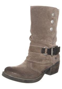 TONI - Cowboy-/ Bikerstiefeletten - taupe/schwarz Taupe, Biker, Boots, Fashion, Heeled Boots, Beige, Crotch Boots, Moda, La Mode