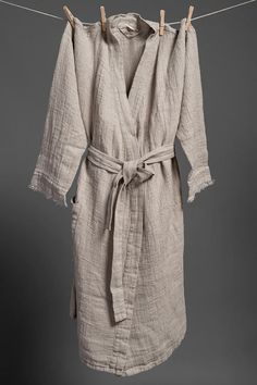 a2906a33c7 100% linen bathrobe for women women flax bathrobe bathrobe Long Bath