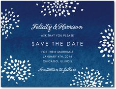 Fourth of July - Postcards 1.29 - save the date Wedding paper divas