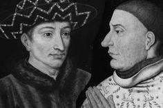 Charles VII (à gauche) et Jean sans Peur (à droite), deux figures emblématiques de la lutte fratricide entre Amargnacs et Bourguignons.
