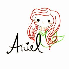 Just a little premature design - perhaps I'll play with it some more prior to going to bed tonight. For just Ariel (no words): Ariel Chibi and Name Chibi Disney, Name Art, The Little Mermaid, Ariel Ariel, Snoopy, Names, Deviantart, Drawings, Art Ideas