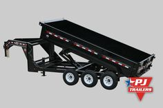 "Triple Axle Dump Trailer Features •	Option features three 7,000 lbs axles for 21,000 lbs GVWR •	Scissor hoist reversed for axle clearance •	Option code is ""73BS"" •	Available on the 16 ft D9 & DJ dump trailers"