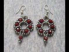 Making Crystal Beaded Earrings - DIY Schmuck Seed Bead Jewelry, Bead Jewellery, Seed Bead Earrings, Beaded Earrings, Earrings Handmade, Handmade Jewelry, Crystal Earrings, Seed Beads, Diy Unicorn
