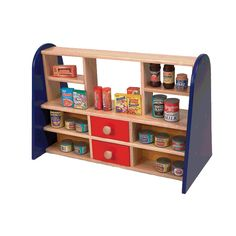 Pintoy Table Top Shop with Play Food : role play : wooden toys