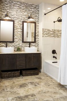 Cool 60 Inspiring Bathroom Remodel Ideas https://roomadness.com/2017/10/27/60-inspiring-bathroom-remodel-ideas/