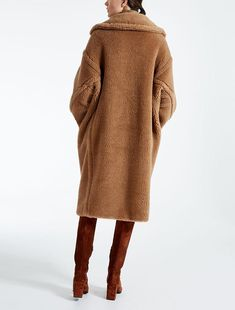 Women's Coat Warm Long Outwear Faux Lambswool Sleeve Tailored Collar Loose Thicken Woolen for Winter Winter Coats Women, Coats For Women, Bear Jacket, Stylish Coat, Other Outfits, Mode Hijab, Outerwear Women, Winter Fashion, Womens Fashion