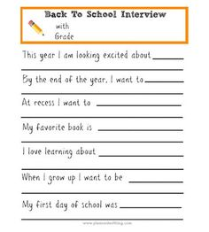 If you'd like to create a fun keepsake that also inspires a sweet conversation with your child, conduct a back-to-school interview like Carolyn of The Pleasantest Thing.