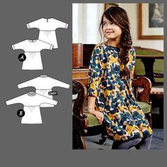 Kjole Sewing For Kids, Peplum, Barn, Pattern, Tops, Dresses, Fabrics, Women, Fashion