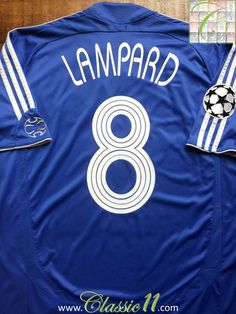 Relive Frank Lampard s Champions League season with this vintage Adidas  Chelsea home football shirt. 81d84312c