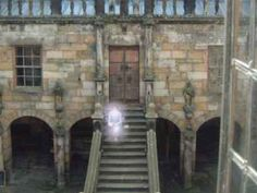 Ghost on steps at Chillingham Castle. I thought this was faked at first but it's been examined by photo experts and it has not been altered.
