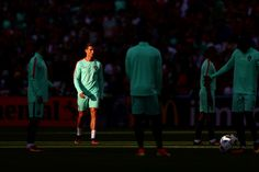Cristiano Ronaldo Photos - Cristiano Ronaldo (2nd L) and Portugal players warm up prior to the UEFA EURO 2016 round of 16 match between Croatia and Portugal at Stade Bollaert-Delelis on June 25, 2016 in Lens, France. - Croatia v Portugal - Round of 16: UEFA Euro 2016