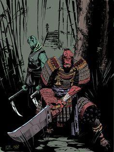 / Hellboy Samurai Ninja Abe Sapien por petevaldez (desenho) e Corin Howell (cores) / Mais