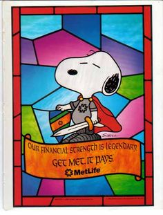 Image detail for -... Metropolitan Life 1993 Ad - Snoopy from Peanuts - Sold, Insurance Ads