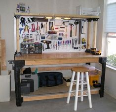2 feet DIY How To Build Your Own Cheap But Sturdy Workbench Easy to Build There are many different ways