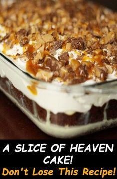 A slice of Heaven Cake – Page 2 – 99easyrecipes Köstliche Desserts, Delicious Desserts, Yummy Food, Food Cakes, Cupcake Cakes, Barres Dessert, Recipes Using Cake Mix, Poke Cake Recipes, Best Cake Recipes