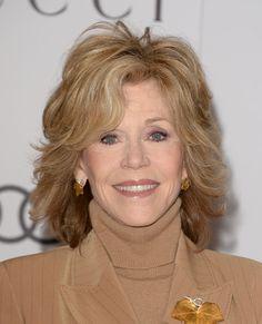 Jane Fonda Medium Layered Cut - Medium Layered Cut Lookbook - StyleBistro