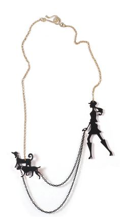 Hi there all you dog lovers...  This fabulous necklace is made with laser cut technique from perspex (plexiglass). It comes in various colors -