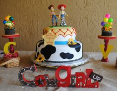 Ok fellow pinner friends, is there anyone out there that has the skills to make a cake like this for Lucys 2nd birthday in april????   Toy Story cake