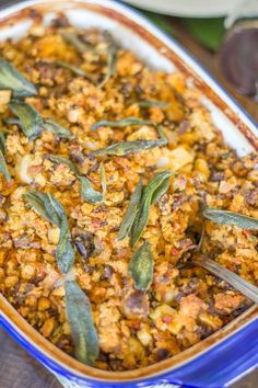The Best Thanksgiving Stuffing Recipe (Chorizo Sage Stuffing) - thekittchen The Best Thanksgiving Stuffing Recipe, Thanksgiving Side Dishes, Sage Stuffing, Chicken And Butternut Squash, Holiday Recipes, Holiday Meals, Chorizo, Easy Meals, Cooking Recipes