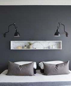 Ideas For House Decor Modern Bedroom Texture Gray Bedroom, Trendy Bedroom, Home Bedroom, Bedroom Wall, Bedroom Decor, Bedrooms, Bedroom Furniture, Contemporary Bedroom, Modern Bedroom