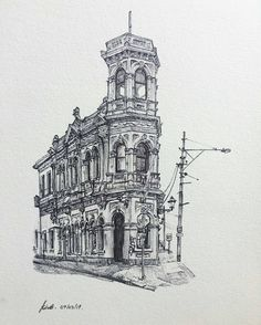 Cool Architecture Drawing wow! check out these awesome #architecture #penandink #drawing|s